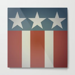 Three Starred Spangle Banner Metal Print