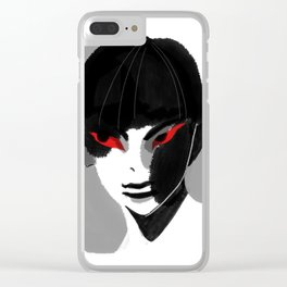 Red Eyed Boy Clear iPhone Case