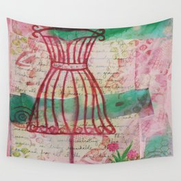 Spring Dress Form Wall Tapestry