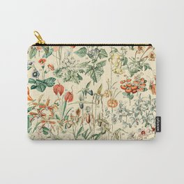 Flower Diagram // Fleurs V by Adolphe Millot XL 19th Century French Science Textbook Artwork Carry-All Pouch