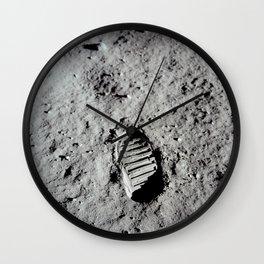 Apollo 11 - First Footprint On The Moon Wall Clock