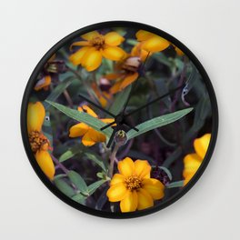 Small Orange Flowers Wall Clock
