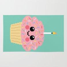 Happy Pixel Cupcake Rug