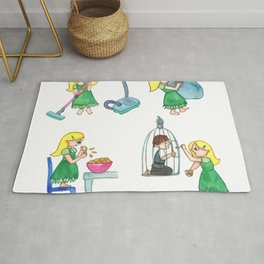 Gretel Working For The Witch Rug