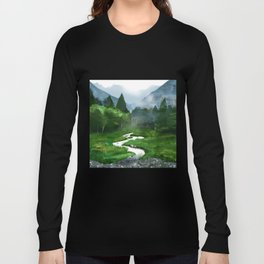 Forest River Illustration  Long Sleeve T-shirt
