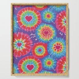 Love Tye Dye Serving Tray