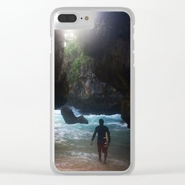 surf @ Bali Clear iPhone Case