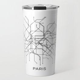 Paris Metro Map Subway Map Paris Metro Graphic Design Black And White Canvas Metropolian Art Travel Mug