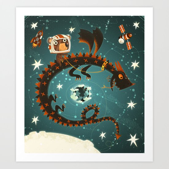 Space Dragon Art Print