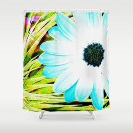 Making art with flower - green tones Shower Curtain