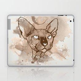 Watercolor Sphynx (Sepia/Coffee stain) Laptop & iPad Skin