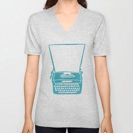 Vintage Wizard Typewriter Unisex V-Neck