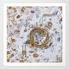 White Gold Art Print