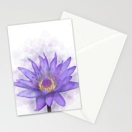 Purple Waterlily flower 7 Stationery Cards