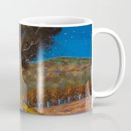 Tradgransen i brandgul skiftning flammar Coffee Mug