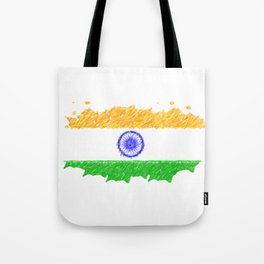 painting artistic effect india flag Tote Bag