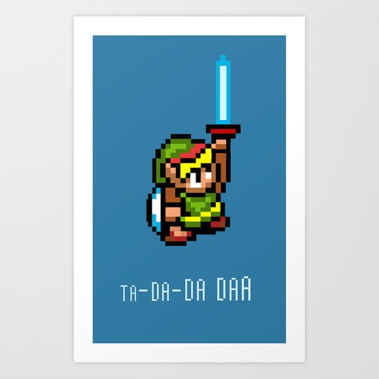 Link's Master sword Art Print