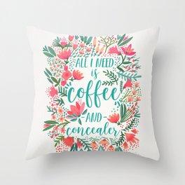 Coffee & Concealer – Juicy Palette Throw Pillow