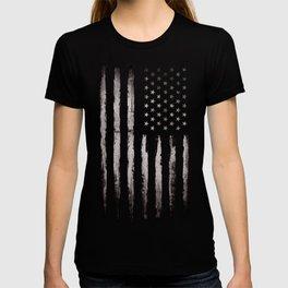 American flag White Grunge T-shirt