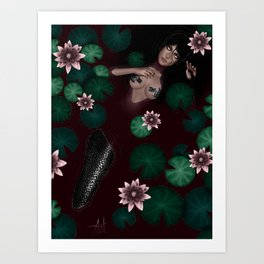 Dark Mermaid Art Print