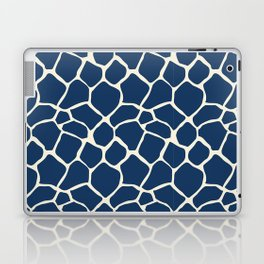 Giraffe Pattern Animal Print (navy) Laptop & iPad Skin
