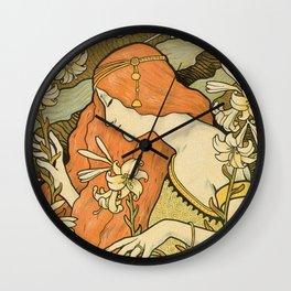 Ermitage Art Nouveau Magazine Wall Clock