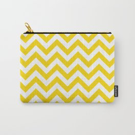 Chevron pattern / gold (color) Carry-All Pouch