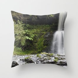Blaen-y-glyn Waterfall 1 Throw Pillow