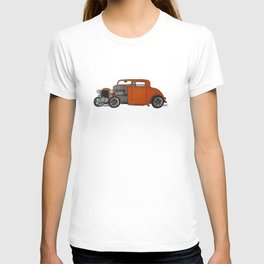 orange 32 hot rod T-shirt