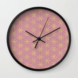 Pink Geometric Pattern Wall Clock