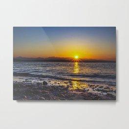 Sunset In Seattle Metal Print