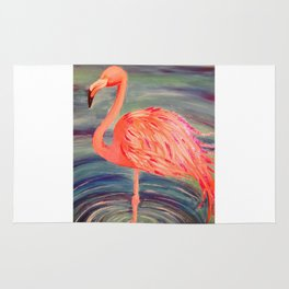 Fancy Flamingo Rug