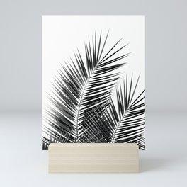 Black Palm Leaves Dream - Cali Summer Vibes #1 #tropical #decor #art #society6 Mini Art Print