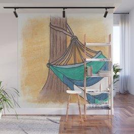 Just Swaying Away-Watercolor Hammock Design Wall Mural