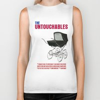 movie poster Biker Tanks featuring The Untouchables Movie Poster by FunnyFaceArt