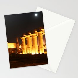 The night and the moon at Temple of Luxor, no. 29 Stationery Cards