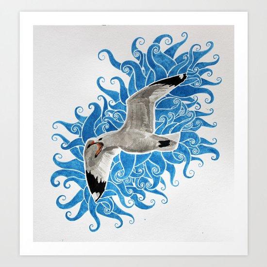 Gull Art Print