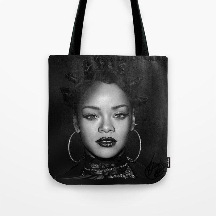 David's Portrait #1 Rihanna Tote Bag