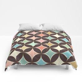 Pastel Patterned French Diamonds Pattern Comforters