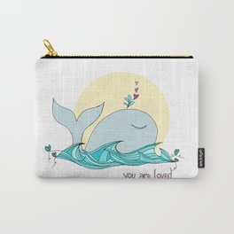 You Are Loved From The Deep Blue Sea Carry-All Pouch