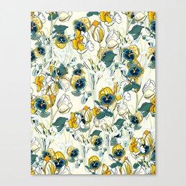 vintage floral pattern 3 Canvas Print
