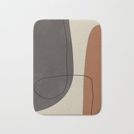 Modern Abstract Shapes #2 Bath Mat