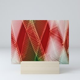 Abstract Holiday Plaid Mini Art Print