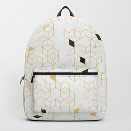 Keziah - Gold & Marble Backpack