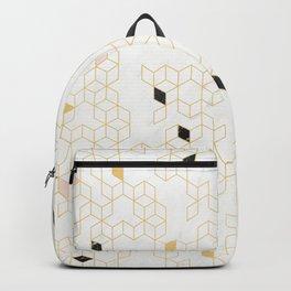 Keziah - Gold & Marble Backpack