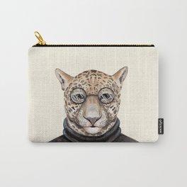 J is for a Jaguar Just Hangin' Out | Watercolor Jaguar Carry-All Pouch