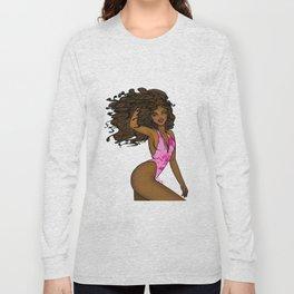 Sexy Afrolatina full color Long Sleeve T-shirt