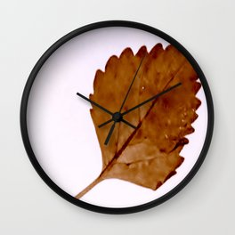 Be Like A Leaf #2 Wall Clock