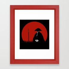 Meditating Samurai Warrior Framed Art Print