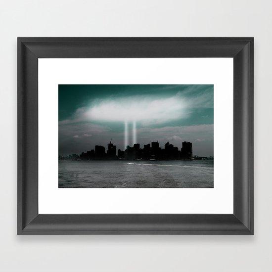 Renewal - New York City skyline Framed Art Print